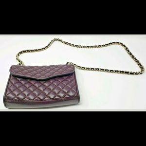 Rebecca Minkoff Burgundy Leather Crossbody Bag